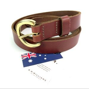 RM Williams Thin Brown Leather Belt Size 38 New